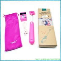 Jual Tongsis Wireless Noosy dapat sarung Self Timer Monopod pink i3214 Murah
