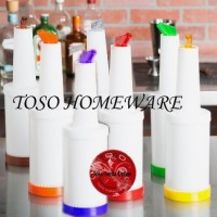 Store and Pour Botol Sirup Bottle Bar Juice Syrup Container