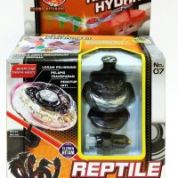 Jual Mainan anak gangsing TORBLADE REPTILE HYDRA BLACK WHITE / TOR BLADE Murah