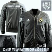 Jual Jaket Bomber Bola Real Madrid Dark Grey Murah