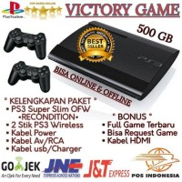 PS3 PS 3 PLAYSTATION 3 SUPER SLIM 500GB OFW + FULL GAME + BERGARANSI