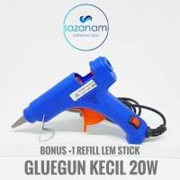 Jual Alat Lem Tembak Glue Gun Lem Bakar Cair 20 Watt +Bonus Refill Lem 27cm Murah