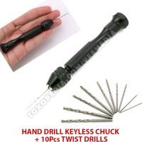 Bor Tangan Manual / Hand Drill Keyless Chuck / Twist Drills Rotary