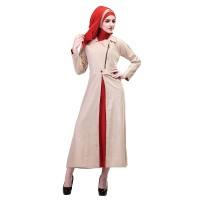 Baju Muslim Wanita - Gamis - Warna Orange-krem