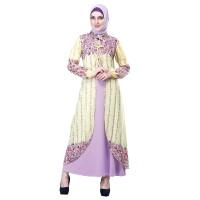 Baju Muslim Wanita - Gamis - Warna Kuning Kombinasi