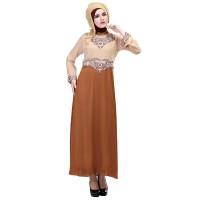 Baju Muslim Wanita - Gamis - Warna Coklat