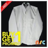 Jual PROMO BELI 1 GRATIS 1! Baju Koko Warna Putih Katun Tangan Panjang Murah