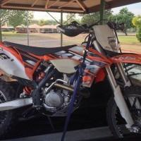 motor trail ktm sx 150cc