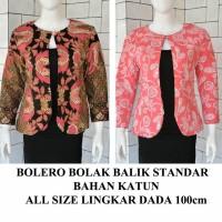 Jual Blazer Bolero batik bolak balik blouse atasan kerja kantor seragam Murah