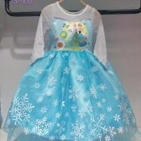 Baju Dress Kostum Frozen Gambar Elsa dan Anna (Buntut Bisa Dilepas)