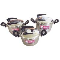 Zebra 6pcs Cookware Set IR6 - 456 I-Rest II 185456