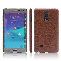 Samsung Galaxy Note Edge - Leather Skin Pattern Hard Case Back Cover