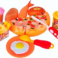 Mainan Masak Masakan Pizza Kue Cake Potong Kantong