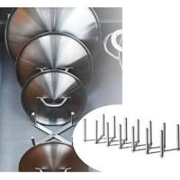 IKEA VARIERA Pot Lid Organizer, Penyusun penutup panci Stainless steel