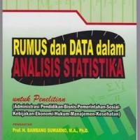 RUMUS & DATA DALAM ANALISIS STATISTIKA UNTUK PENELITIAN