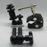 Articulating Magic Arm 11 inch + Super Clamp for DLSR LCD Flash