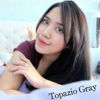 ORIGINAL Softlens Avenue Solotica Topazio Gray Grey Abu Abu