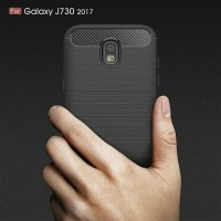 Soft case Ipaky Carbon Samsung J7 Pro Softcase Casing Fiber J7pro J730