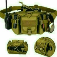 Jual tas pinggang selempang pria tactical army tas waistbag wanita import Murah