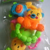 Jual Jual mainan baby rattle set 4 item Murah