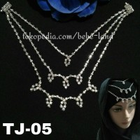 HEADPIECE HIJAB BROSS PERMATA HIASAN DAHI ALA INDIA TJ-05