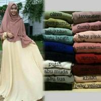 Jual Sale!!!Promo Gamis Murah syar'i/busana muslim wanita - Bubblepop polos Murah