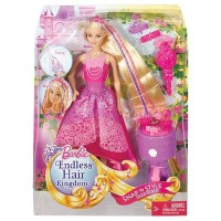 Boneka Barbie Mattel Endless Hair Kingdom Snap 'n Style Princess