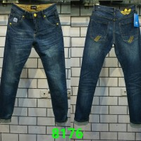 celana panjang ADIDAS X DIESEL jeans slim fit stretch + details
