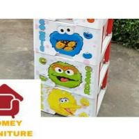 lemari plastik lemari pakaian lemari baju Elmo susun 3