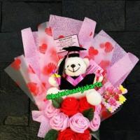 Jual Buket Bunga Boneka Bouquet Doll Flowers Buket Wisuda Graduation Murah