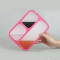 Jual kotak makan yooyee/ kotak bekel / lunch box 3 sekat anti bocor Murah