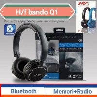 Headset bluetooth NIA Q1 Cell FM WIRELESS