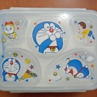 Jual kotak makan anak lunch box 5 sekat 5in1 DORAEMON Murah