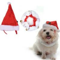Jual NEW 1set Topi dan syal Santa anjing kucing baju hewan christmas natal Murah