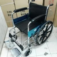 "kursi roda 2 in 1 "" KY 609 B "" merk sella,bisa BAB,velg racing"