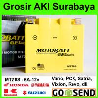 Aki Gel TTR 150 Yamaha MOTOBATT MTZ6S kering motor u/ Yuasa GS