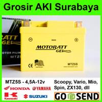 Aki Kering Gel Xeon Yamaha Motobatt MTZ5S u/ GS Yuasa motor