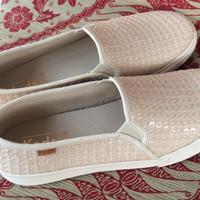 Jual Sepatu KEDS Double Decker Pinwheel Sequin Fashion Sneaker Murah
