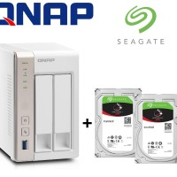 Bundling Qnap TS-251 4GB RAM 2-Bay NAS + Seagate IronWolf 2TB X 2PCS