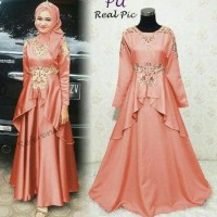 Jual gamis kaftan moris salem maxi dress peplum bordir baloteli Murah