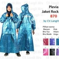 Jual Jas Hujan Rok Polkadot Plevia ROK POP 870 Muslimah Perempuan Mantel Murah