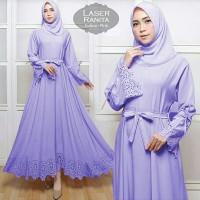 888- Ranita lavender+ pashmina syari
