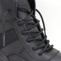 KipzKapz WS15 Black 115cm Tali Sepatu Lilin / Waxed Cotton Round
