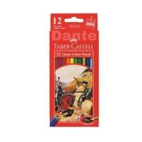 pensil warna Faber Castell isi 12 (panjang)