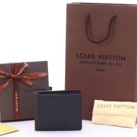 Dompet Pria LV Louis Vuitton Multiple Taiga Leather Hitam KULIT ASLI