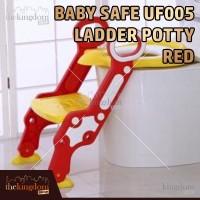 BabySafe UF 005 Tangga Pispot Dudukan Toilet Anak Red Merah WC Jamban