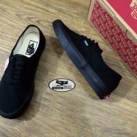 Sepatu Vans Authentic Full Black Premium Import