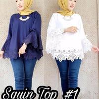 SQUIN TOP/gamis koko /vaseline /dress sabrina/batik kebaya /baju sabri