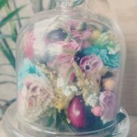 Jual Small glass dome jar display kubah kaca untuk florist atau cupcake  Murah