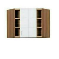 Abc perabot | lemari sayur sudut atas | kitchen set atas sudut